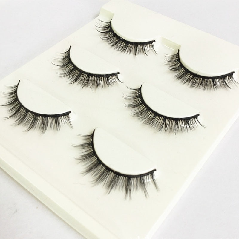 Cross Natural Long Eye Lashes Beauty Makeup Tools 3D Stereo Messy Fiber Eye Lashes Girls Short Simulation False EyeLashes