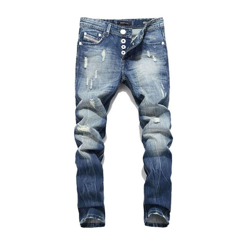 2019 New Arrival Fashion Balplein Brand Men Jeans  Washed Printed Jeans For Men Casual Pants Italian Designer Jeans Men!B982