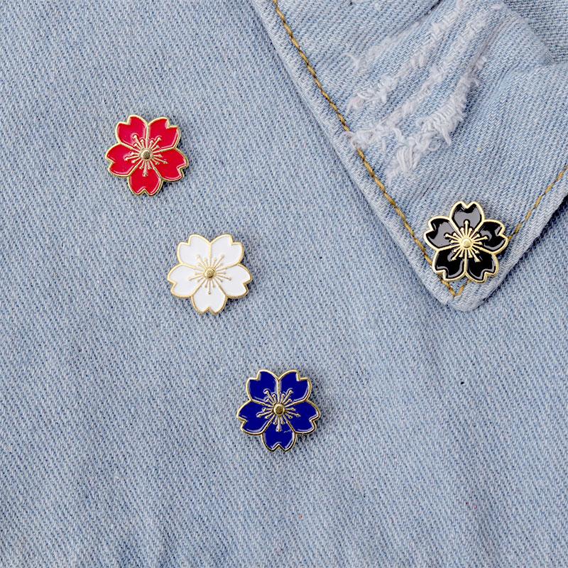 Четырехцветная брошь на воротник в виде цветка, модная брошь, металлический сплав, значок, изысканная серия, значок, аксессуары для одежды для девочек