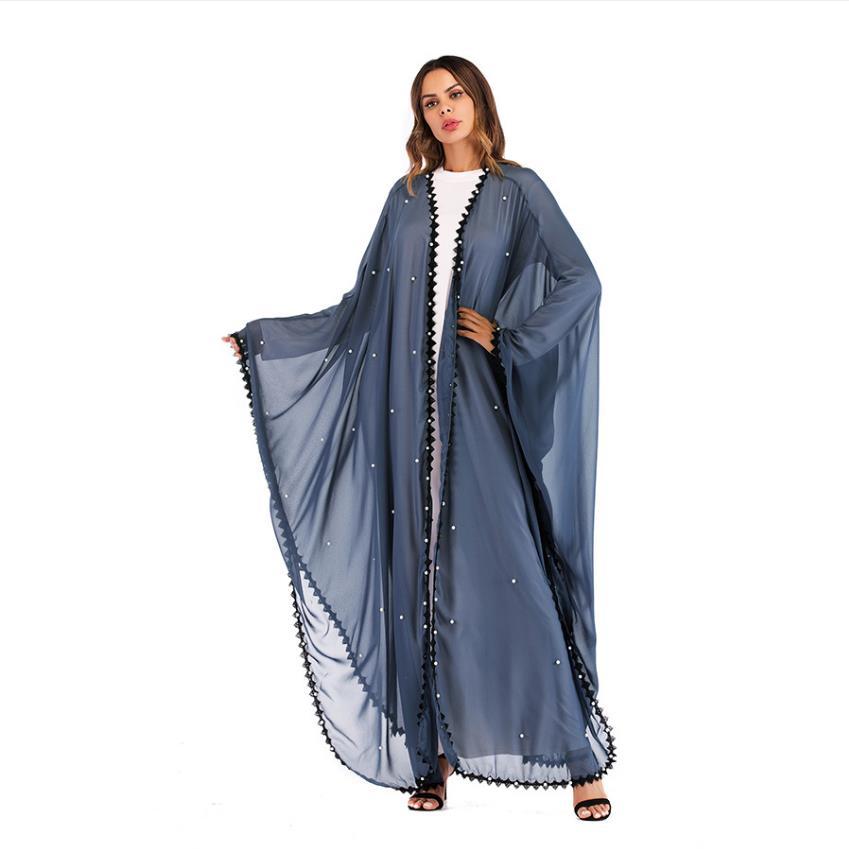 Musulman manches chauve-souris diamant Abaya islamique Cardigan Kimono longue Robe robes tunique Vestidos Ramadan turc islamique abaya wq1167