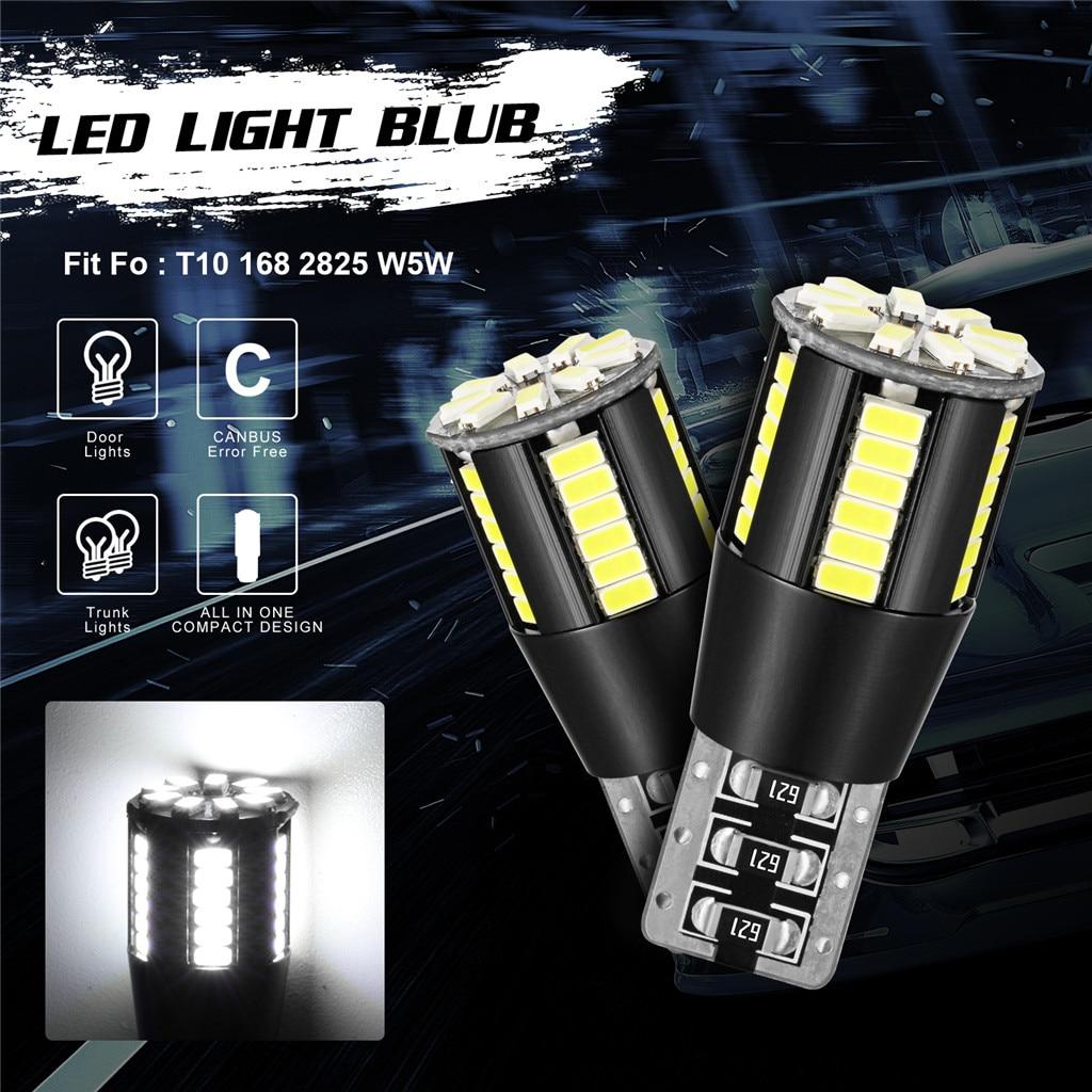 Luz de coche kongyide 2 uds T10 bombillas LED sin errores Can Bus Xenon blanco W5W 501 bombilla de luz lateral 12V-24V Domo/festón/resding