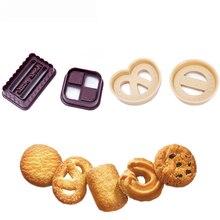 Couronne classique de biscuits danois en forme de Fondant   4 pièces, découpe de gâteaux, pâtisserie, impression, moule à gaufrer, outils de décoration de gâteaux