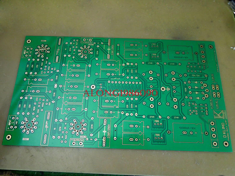 DIYERZONE ECC88 + 12AX7 tubo MM preamplificador Phono de bulbo/foco para PCB en base a D KLIMO MELIN L11-10