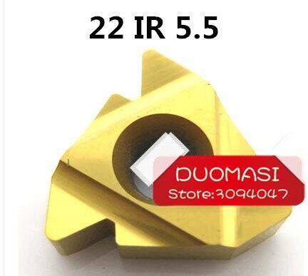 22 IR 5.5 ISO داخلي ملولب داخلي ، طلاء ملف جانبي جزئي من النوع العام ، قطع الصلب 60 درجة ، الملعب 5.5