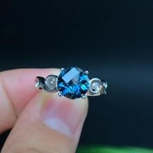 간단한 신선한, 925 실버, 천연 토파즈 반지, 저렴한 가격, 인기있는 숙녀 반지.
