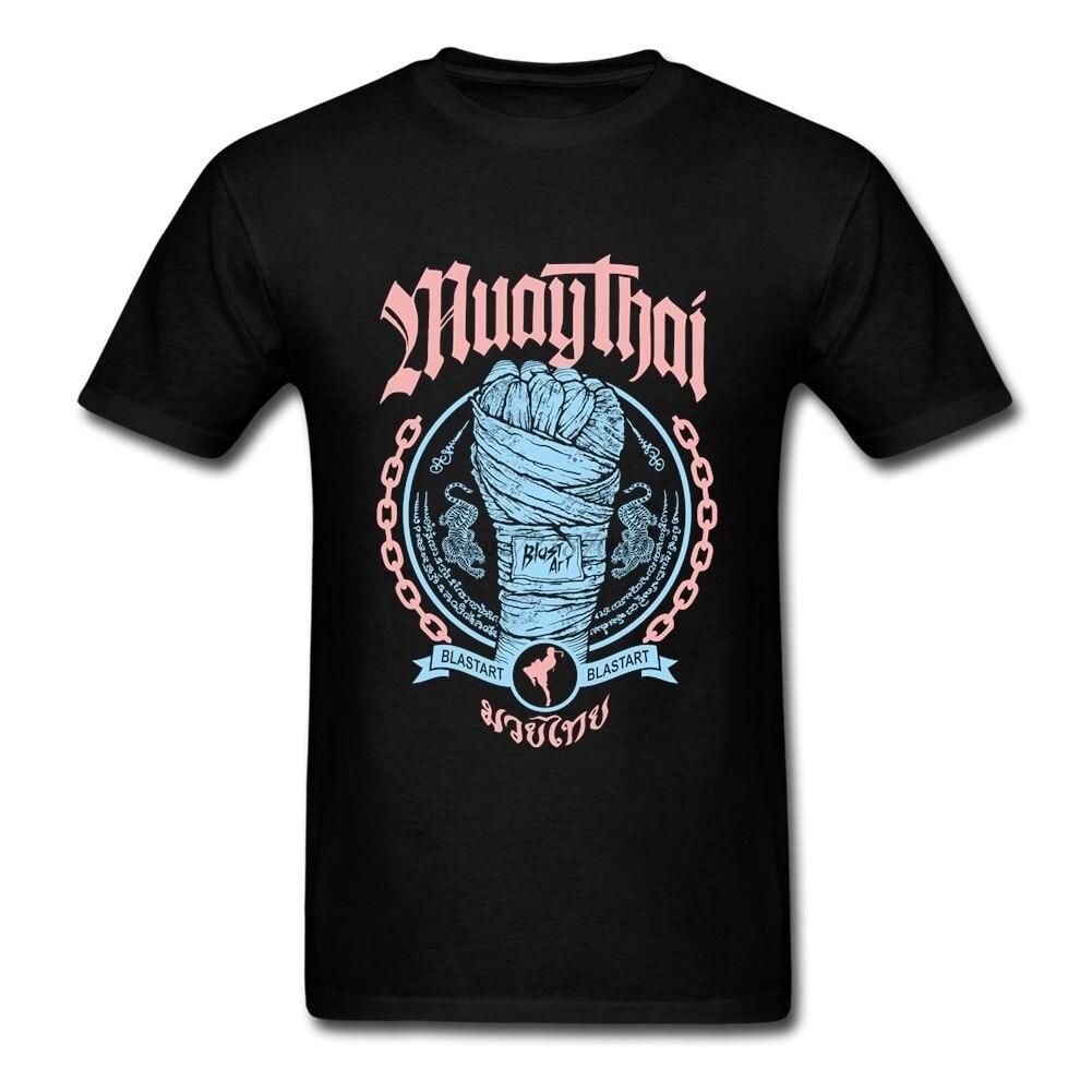 Мужская футболка с коротким рукавом Muay Thai Fist, хлопковая Футболка с круглым вырезом, модель 3XL, 2019