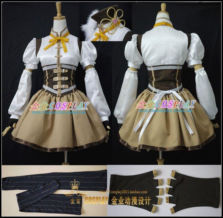 Puella Magi Madoka Magica Tomoe Mami Cosplay Costume Full set socks include