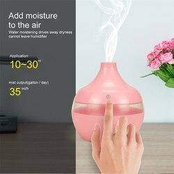 Humidifie ar USB umidificador de Ar Aroma Difusor Óleo Essencial Cor Sólida LED Ultrasonic Aroma Aromaterapia Humidifie Z318