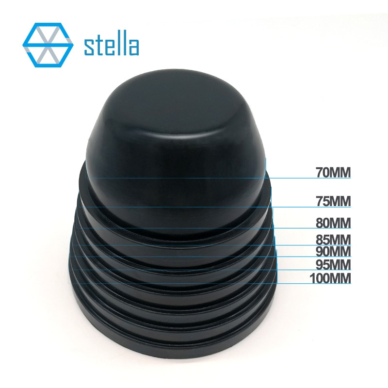 2 pces universal led/hid farol capa de borracha à prova de poeira tampa impermeável 70mm 75mm 80mm 85mm 90mm 95mm 100mm termoestabilidade