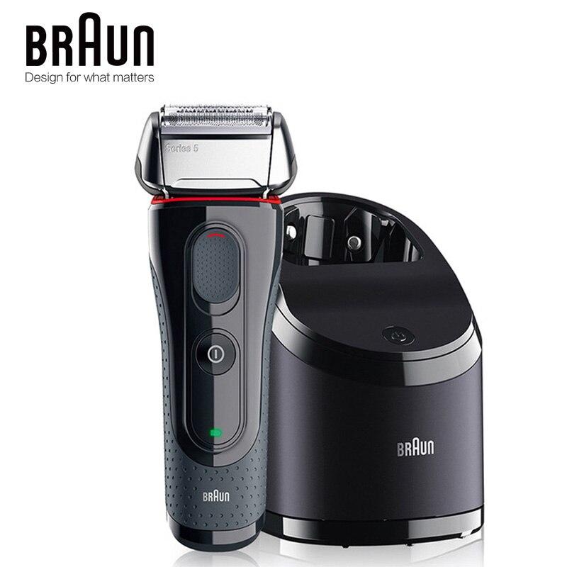 Braun rasoir électrique 5050cc sécurité étanche rasage rasoir populaire outils de coiffage pour les hommes alternative automatique propre Charge
