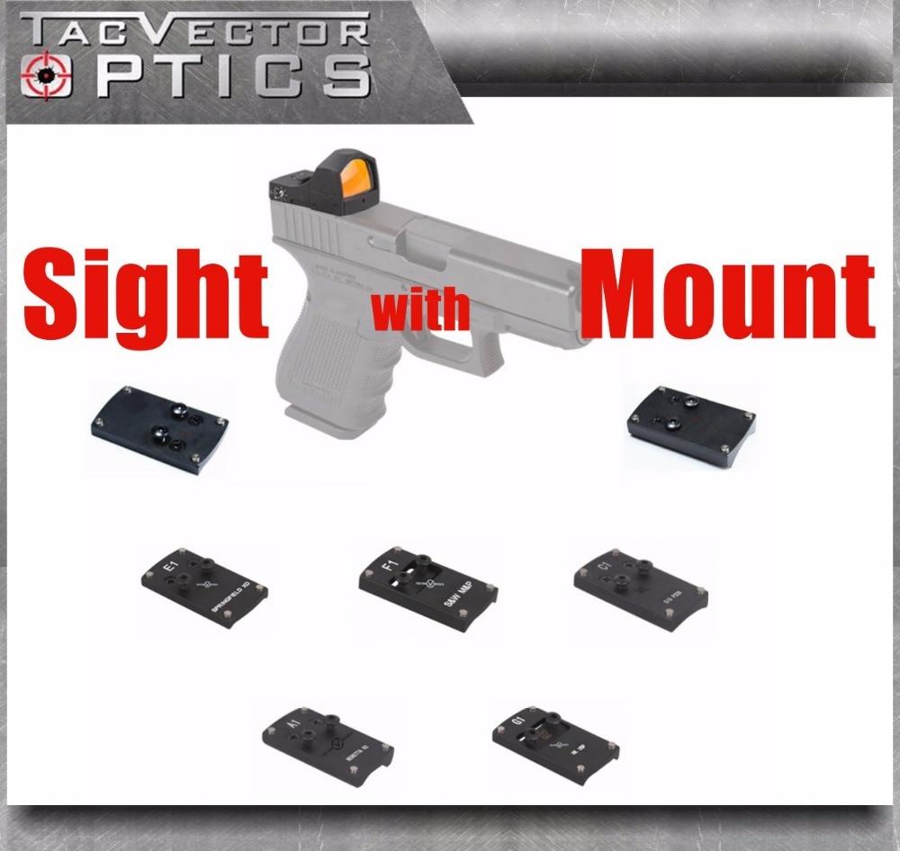 Vector Optics сфинкс, прицел в красную точку с пистолетом, заднее крепление для GLOCK 17 19 SIG SAUER BERETTA Спрингфилд XD S & W M & P HK USP 1911