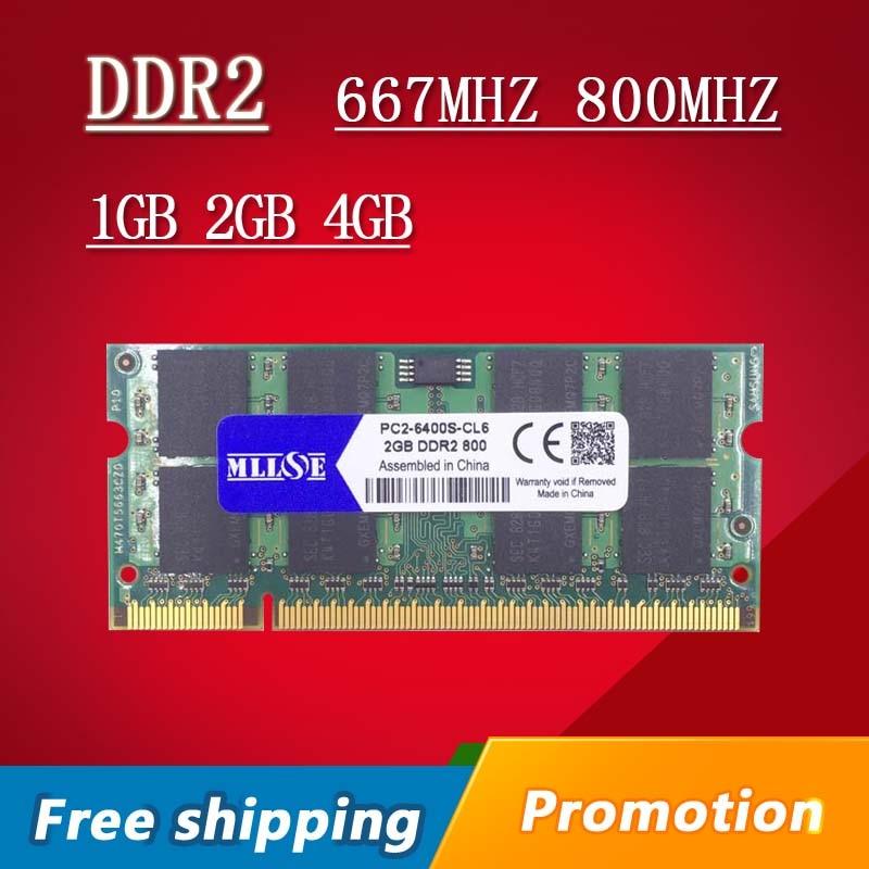 MLLSE 1 جيجابايت 2 جيجابايت 4 جيجابايت DDR2 DDR 2 667 800 667 ميجا هرتز 800 ميجا هرتز PC2-5300 PC2-6400 sodimm so-dimm sdram ذاكرة عشوائية Ram ميموري لأجهزة الكمبيوتر المحمول