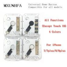 10 unids/lote Universal botón de inicio Cable flexible para iPhone 7 8 Plus teclado de menú función de retorno montaje de solución 3rd Gen reemplazo
