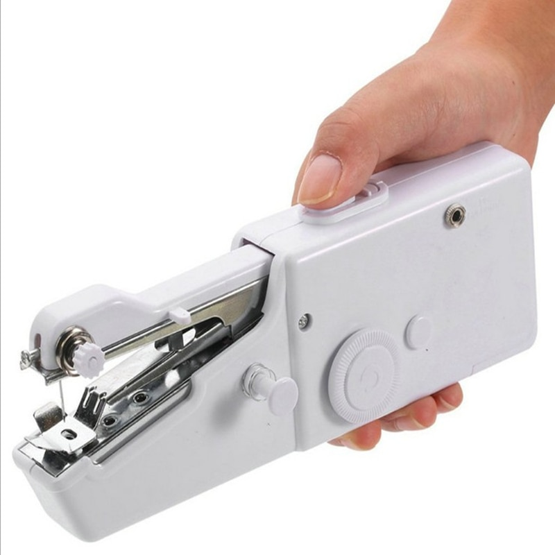 Minimáquina DE COSER manual portátil para el hogar, aguja de coser rápida, aguja sin cable para ropa, máquina de coser de bolsillo electrónico