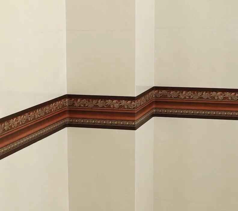 3d cintura techo decorativo tira pegatina de pared borde pegatinas borde baño cocina impermeable cenefa adhesiva de pared