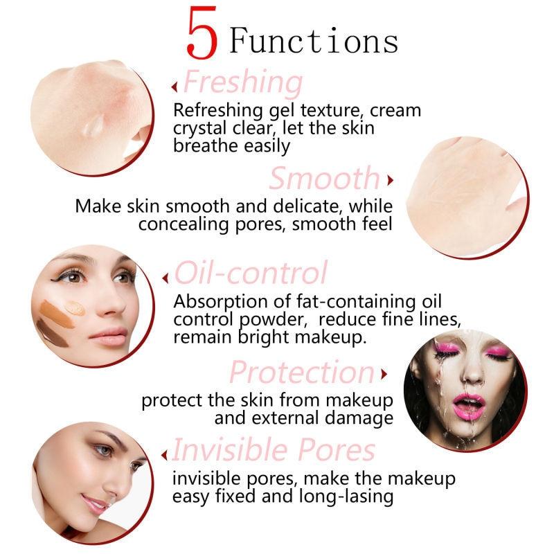 Base facial hidratante, Primer Control de aceite de maquillaje, suave, de larga...