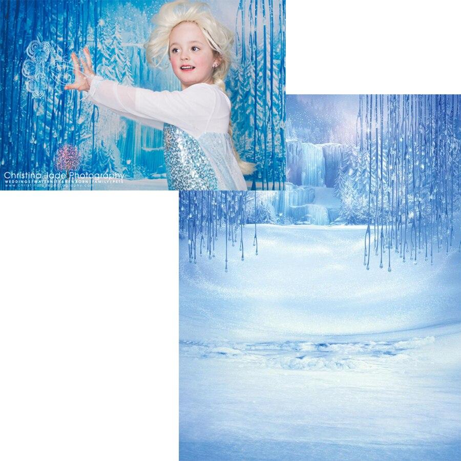 200 см * 150 см (6,5*5 футов) замороженный снег Волшебное Королевство дети фотографии фоны виниловые фоны для фотографии
