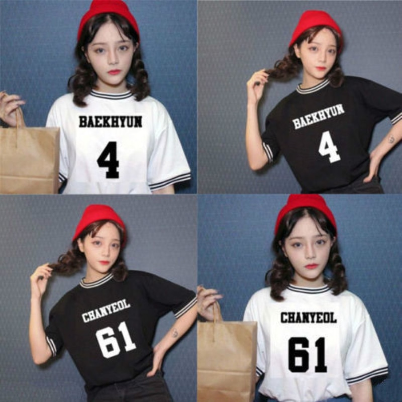 Mainlead EXO Kpop Футболка женская EXACT футболка Baekhyun Chanyeol EXOrDium The Fire