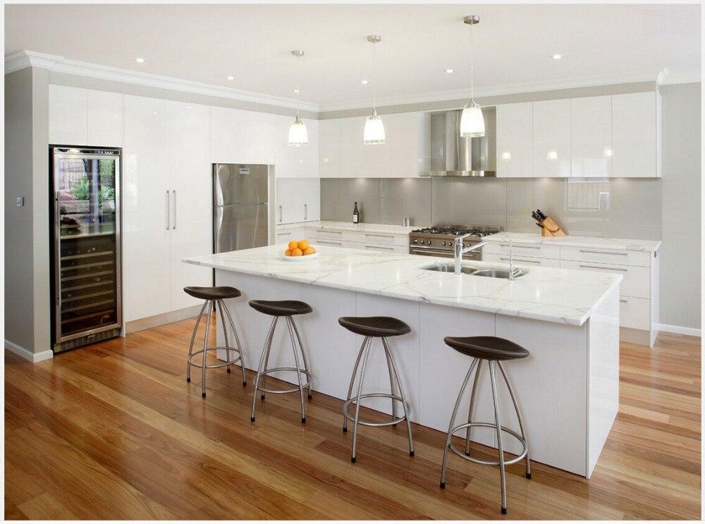 Gran oferta 2016, nuevo diseño, armarios de cocina blancos muy brillantes laqueado, modular, Isla de cocina, mobiliario de cocina personalizado