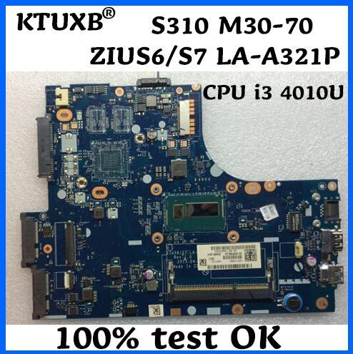 KTUXB ZIUS6/S7 LA-A321P материнская плата для Lenovo S310 M30-70 материнская плата для ноутбука CPU i3 4010U DDR3 100% тестовая работа