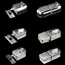 Serrure de porte coulissante en verre   Haut de gamme, serrure de porte en verre en acier inoxydable 304 pour accessoires de salle de douche et de salle de bain