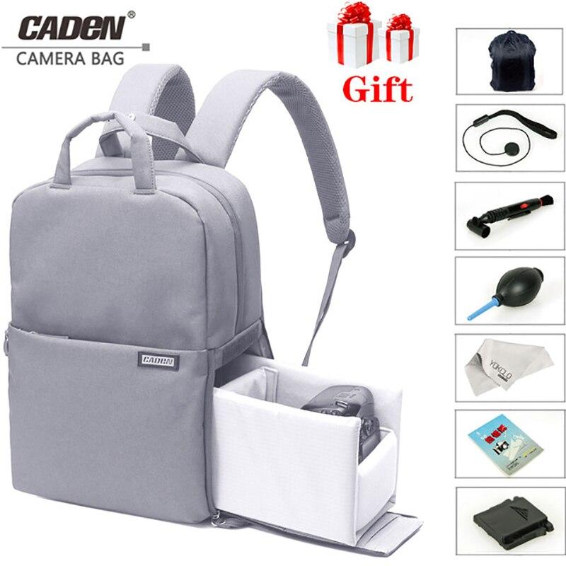 Сумка для камеры CADeN, водонепроницаемая сумка для видео и ноутбука, 14 дюймов, школьная Повседневная сумка для фото, рюкзак для камеры Canon, Nikon, ...