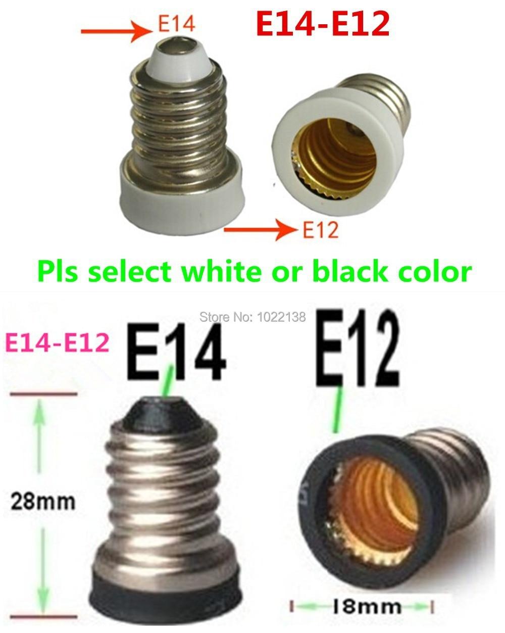 6/lote lámpara LED adaptador E14 a E12 base de la bombilla adaptador...