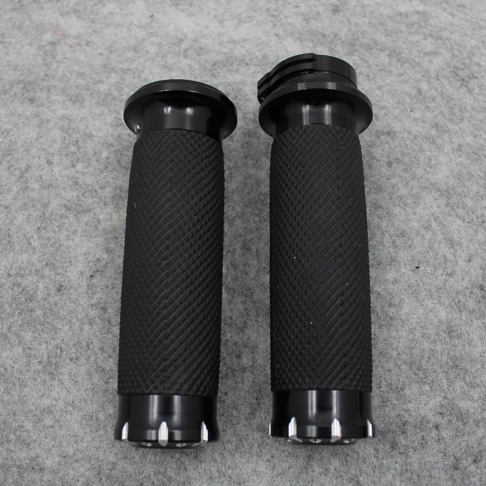 "Manillar negro de 1 ""25mm para motocicleta, manillar CNC para Harley Touring Dyna Softail Custom Sportster 883 1200 XL"