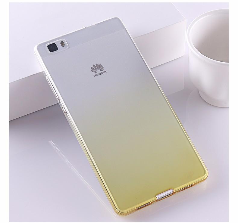 Ultra-cienki przezroczysty miękka tpu case dla huawei p8 p9 plus p8 lite krzemu gradientu telefon ochronna pokrywa dla huawei p9 Shell 23