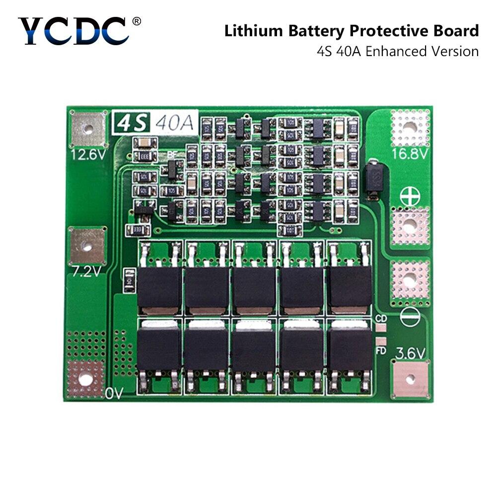4S 40A 14,8 V 16,8 V Li-ion litio Lipo batería 18650 26650 cargador PCB Placa de protección BMS módulo de protección de carga sin equilibrio