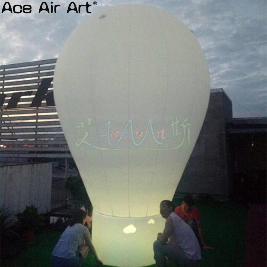 Balão quente inflável mais barato da iluminação, esfera incandescente da propaganda do telhado para a decoração ou a promoção