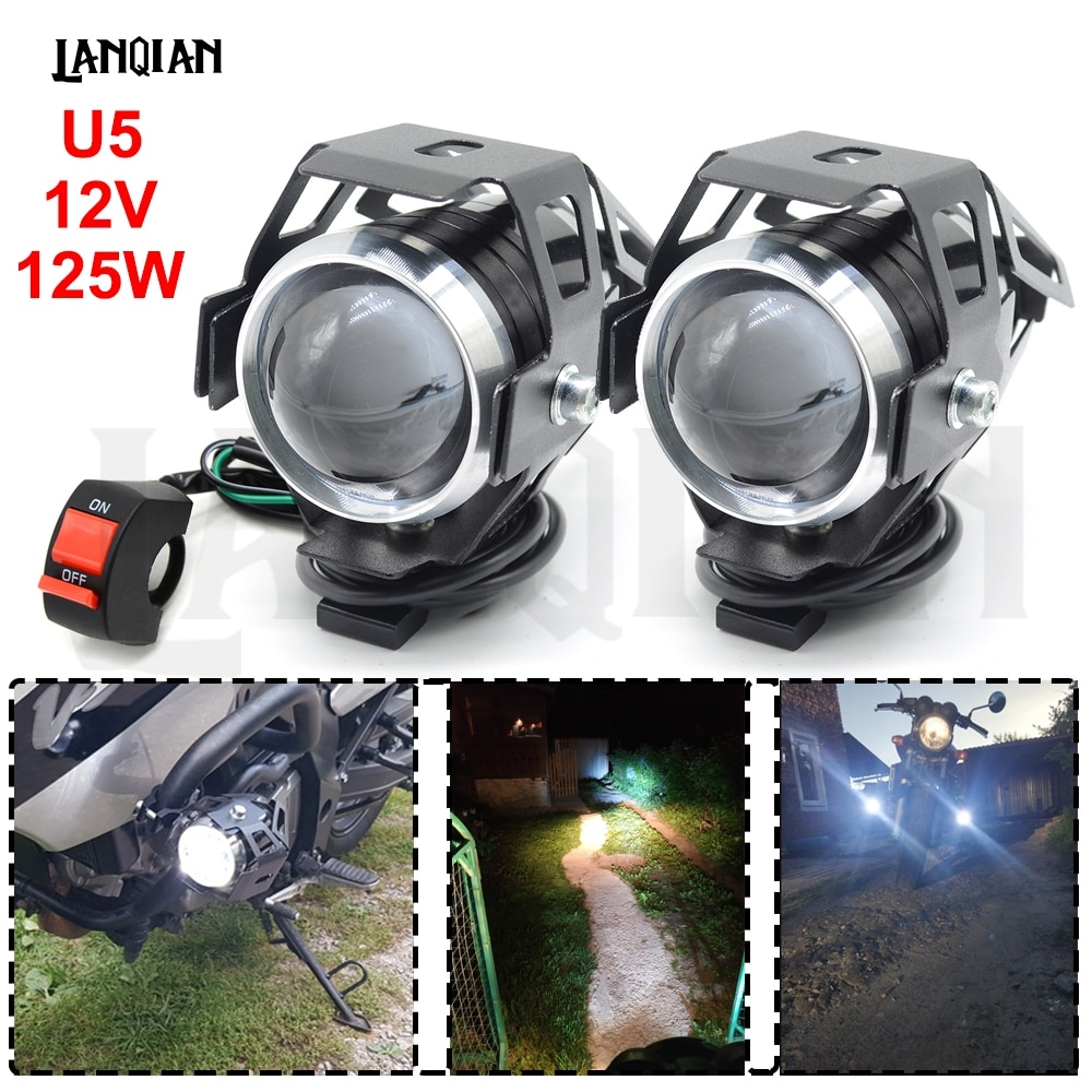AliExpress - Universal Motorcycle LED Light U5 12V Auxiliary Lamp Driving headlight DRL Fog Light For BMW R1200RT S1000R F800GT Accessories