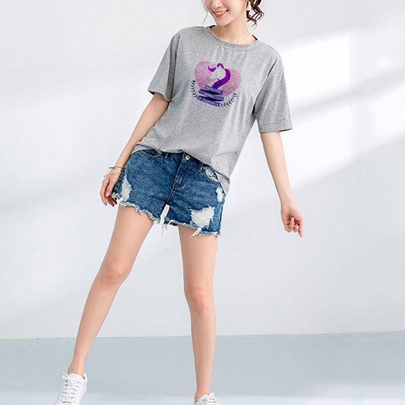 Camiseta femenina estética del arco iris de moda Streetwear Grunge camiseta Camisetas Verano Mujer Harajuku Kawaii de Verano