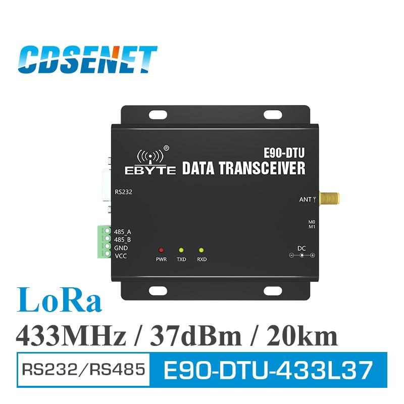 E90-DTU-433L37 Wireless Transceiver LoRa RS232 RS485 433MHz 5W Long Distance 20km PLC Transceiver Receiver 433 MHz Radio Modem lora wireless module rs232 rs485 433mhz tcxo cojxu e90 dtu 433l30 wireless transceiver long range 8km plc receiver radio modem