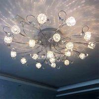 MX8342-19 Creative Nordic Modern Minimalist Ceiling Lamp Crystal Remote Control LED G4 Light Living Room Bedroom Lighting Lamp