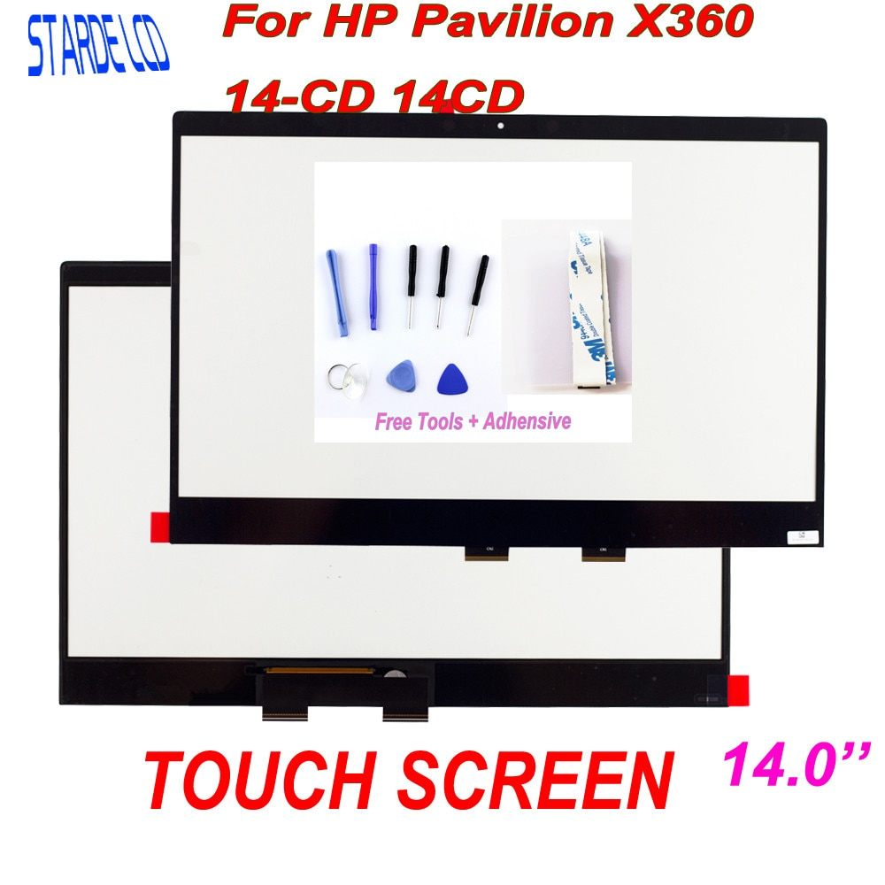 Starde Lcd 14'' Touch Digitizer For HP Pavilion X360 14-CD 14CD Series Laptops Touch Screen Replacem