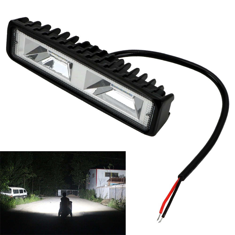 LEEPEE 1PC LED Headlights 12-24V For Auto Motorcycle Truck  Tractor Trailer Offroad Working Light 36W LED Work Light Spotlight