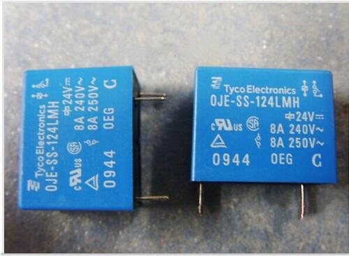 HOT NEW relay OJE-SS-124LMH OJESS124LMH 24VDC DC24V 8A 24V DIP4