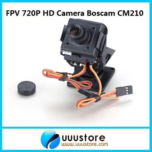 2015 nuevo Real Rc Boscam Cm210 720p Hd Mini Fpv Aio Cámara W/nylon Pan Tilt Ptz y Servo para aviones fotografía Quadcopter