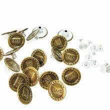 CNCRAFT-ensembles Jean 20/50 en 1 boutons métalliques   Boutons en Jean couleur Bronze, personnalisés, charme à la mode