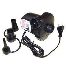 Электрический воздушный насос для надувных лодок, надувной матрас с 3 насадками, 220 В перем. Тока, вилка европейского стандарта-M25
