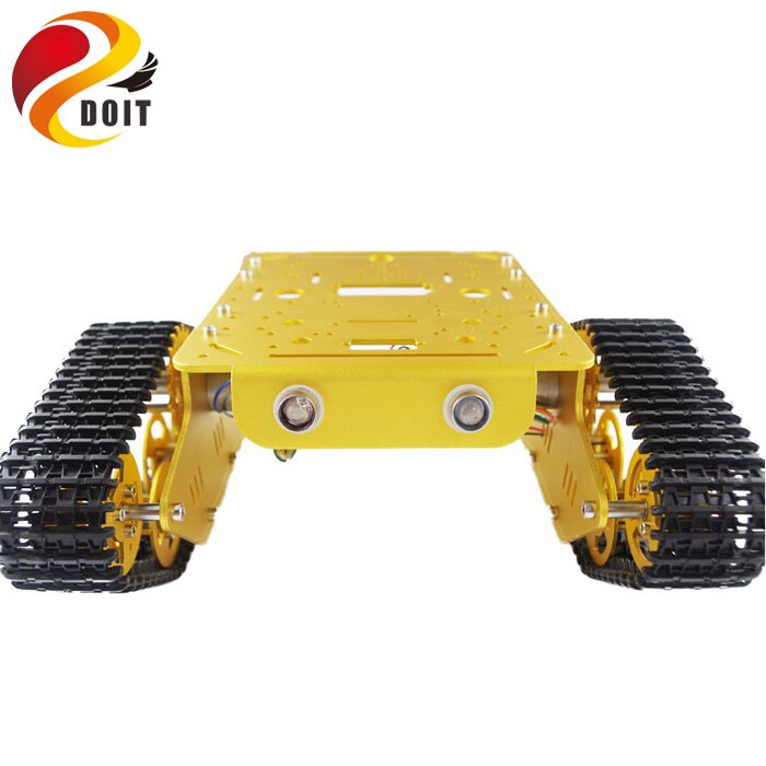 DOIT T300 RC Metal Robot tanque Chasis de coche Crawler para arduino oruga cadena de seguimiento vehículo plataforma Tractor kit de juguete