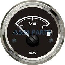KUS Marine Boat Fuel Level Gauge Truck Car RV Waterproof Fuel Tank Indicator 12V/24V 52mm 0-190ohms