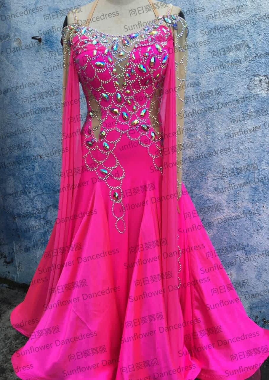 فستان رقص قياسي ، فستان مسابقة الفالس ، فستان رقص التانغو ، عباد الشمس ، نمط جديد