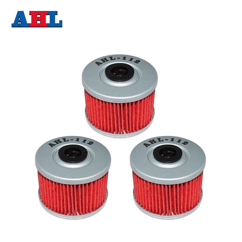3Pcs Motorrad Teile Rot 112 Öl Filter Für HONDA XR600R XR 600R 1985-2002 FMX650 FMX 650 XR440 R/SM 440 R 2005-2007