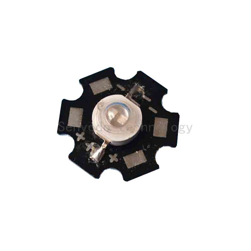 100X alta calidad 5W UV LED 2 chip 380-385nm fuente de luz led de alta potencia con 20mm aluminio PCB envío gratis