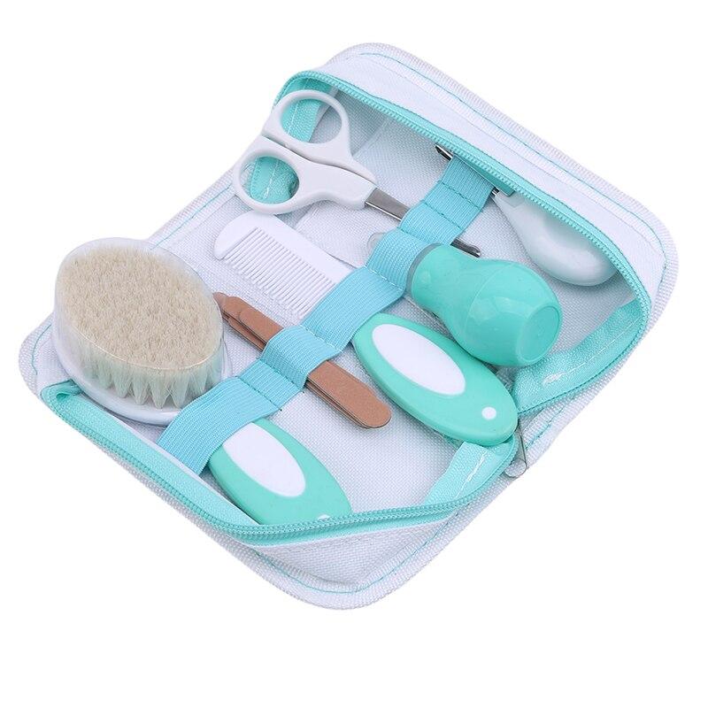 Cuidado de la nariz del pelo de las uñas del bebé conjunto de cepillo de Peine conjunto de cuidado diario recién nacido bebé herramientas de cuidado de bebé recién nacido Kit de cepillo de cuidado del bebé