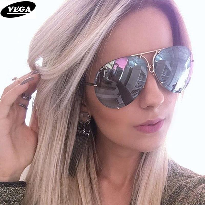 VEGA 2019, grandes gafas de sol para mujer, grandes gafas de sol de aviación para mujer, gafas de sol de gran tamaño para mujer, gafas de sol sin montura VG06