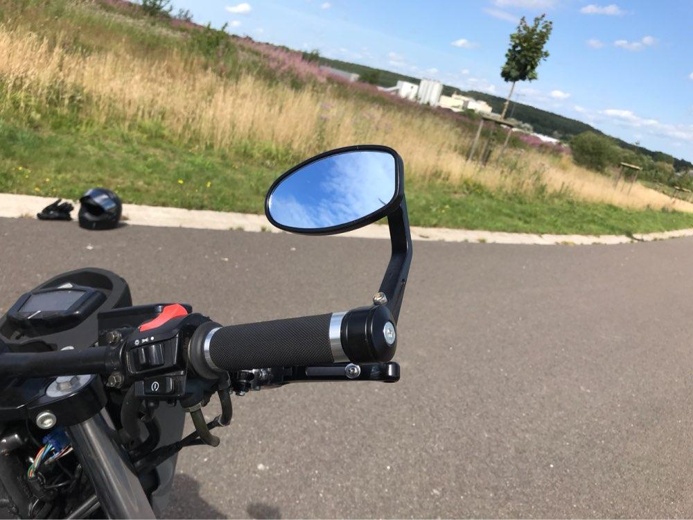 7 8mm barra extremo Universal motocicleta Retro espejo retrovisor de carreras de aluminio mango modificado barra extremos espejos laterales para YAMAHA KTM