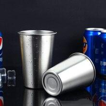 Tasses en acier inoxydable de 350ML/500ML   Gobelets en métal, tasses de voyage en plein air pour le Camping, boire café thé bière